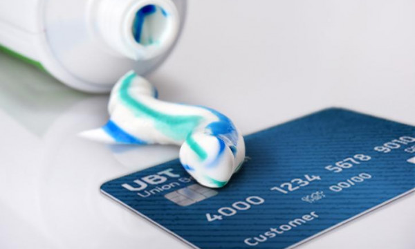 Toothpaste Spill on Debit card